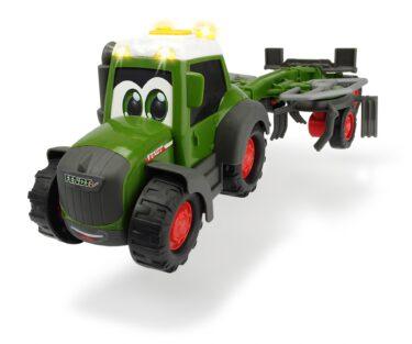Dickie Tracteur Happy Fendt avec faneuse 203815002