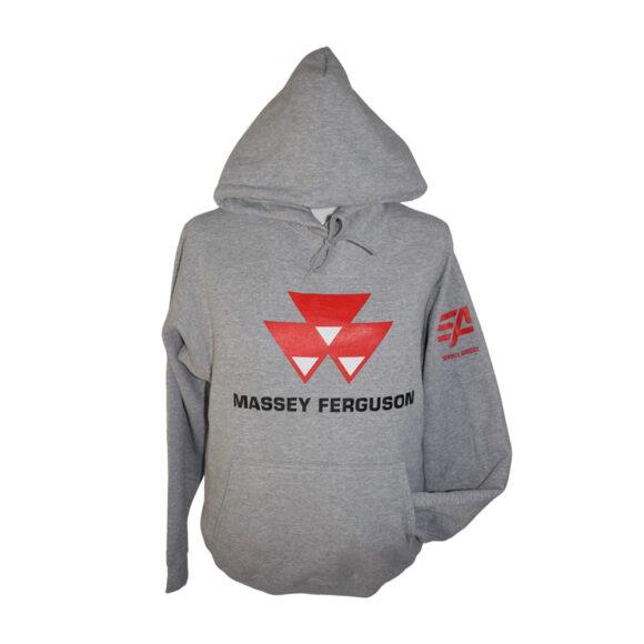 Chandail capuchon Massey Ferguson gris pâle